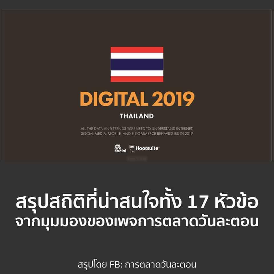 สรุปพฤติกรรมดิจิทัลของคนไทยในปี 2018 จาก We Are Social