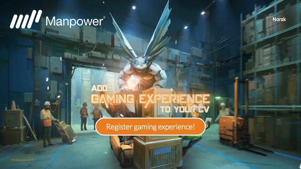 หางานให้ตรงกับเกม Manpower ชวน Gamer ใช้สกิลในเกมมาสมัครงาน