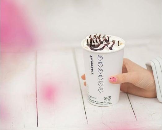 Starbucks สร้างไวรัลได้ฟรี PR มากมาย แค่เปลี่ยนช่องติ๊กข้างแก้วให้เป็นรูปหัวใจรับเทศกาลวาเลนไทน์