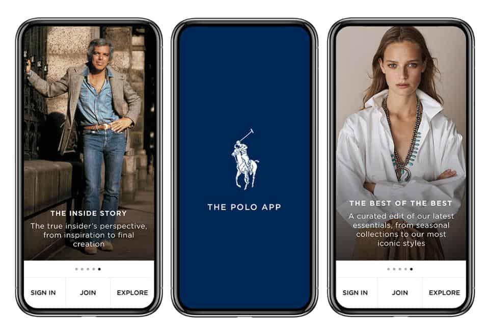 The Polo App แอพพิเศษสำหรับลูกค้าคนพิเศษของ Ralph Lauren เท่านั้น