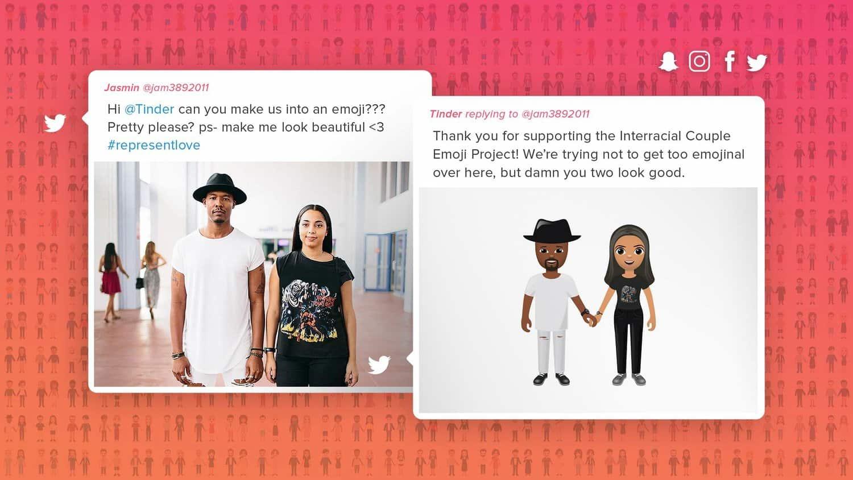 Tinder กับแคมเปญ #RepresentLove ที่ชูความหลากหลายของคู่รักต่างเชื้อชาติ เพื่อลบภาพลักษณ์แอพนัดยิ้ม