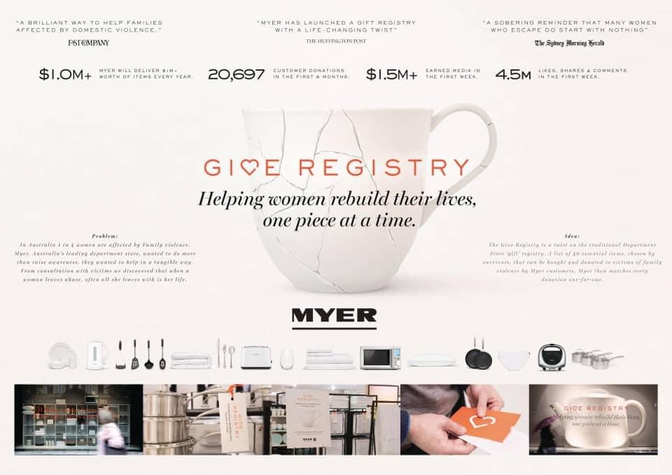 Give Registry Myer