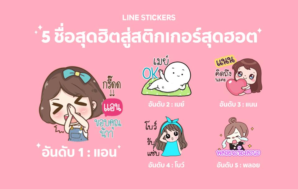 Line Sticker ยอดนิยมบอกอะไรบางอย่างให้เรารู้