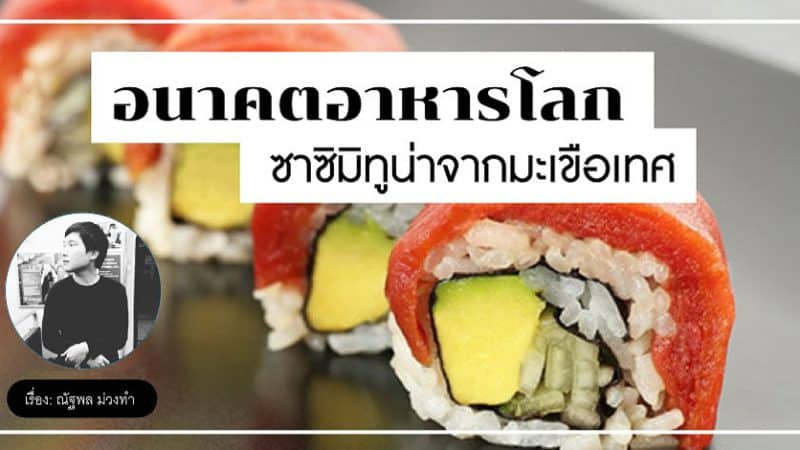 Food Tech อนาคตอาหารโลก ซาซิมิทูน่าจากมะเขือเทศ