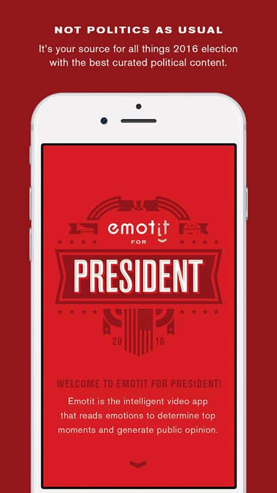 Emotit for President แอปที่บอกได้ว่าคลิปหาเสียงของใครถูกใจวัยรุ่น