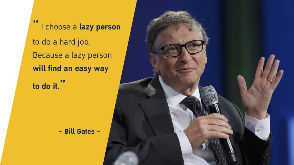 Bill Gates Lazy