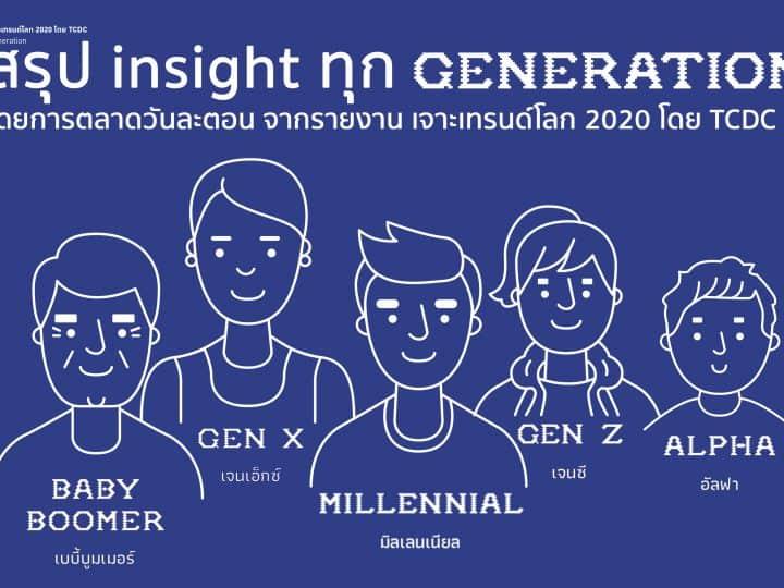 สรุป Insight ทุก Generation จากรายงานเจาะเทรนด์โลก 2020 โดย TCDC