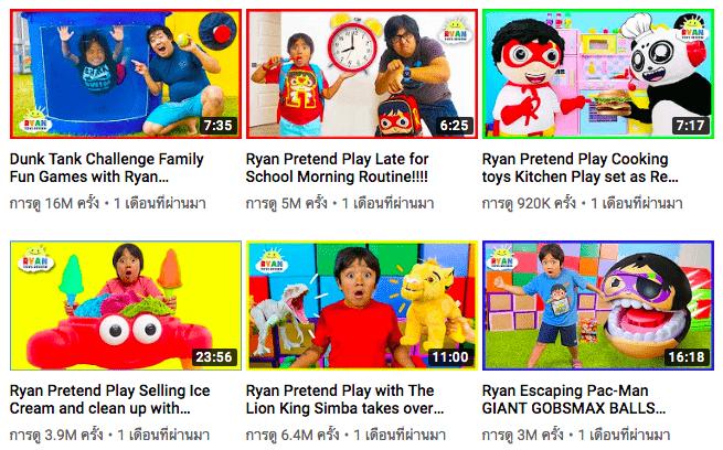 Ryan ToysReview YouTuber Kid