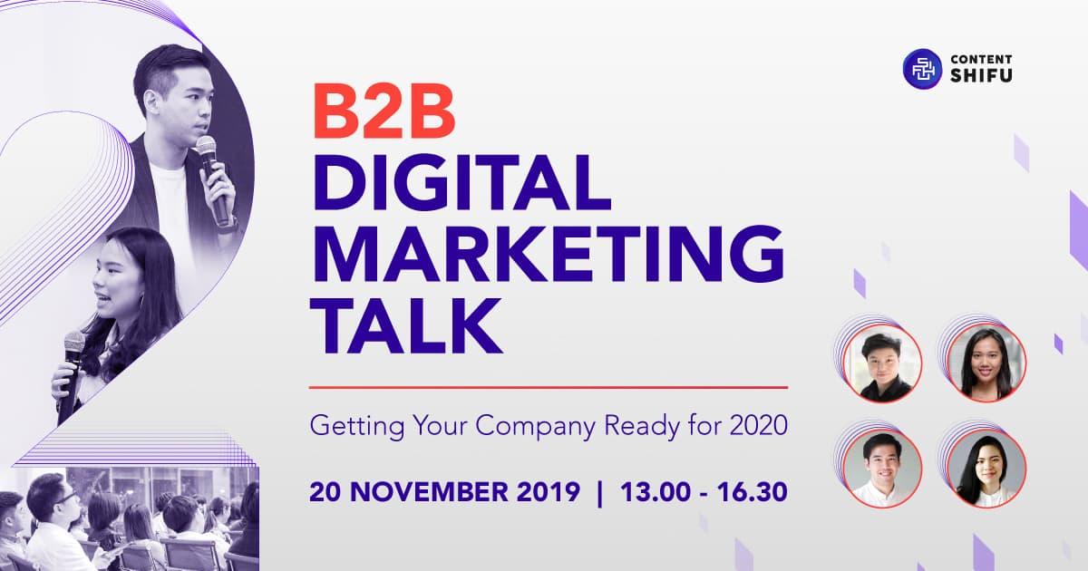 Digital Marketing for B2B งานสมัมนาดีๆที่เพื่อนักการตลาดสาย B2B