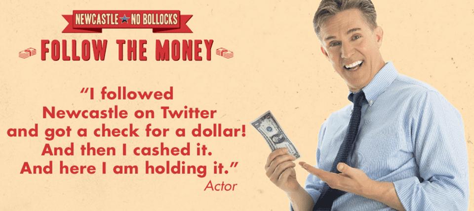 Follow the Money แคมเปญซื้อไลก์แบบไม่เหมือนใคร จ่ายเงินให้คนตามตรงๆ แทน Twitter