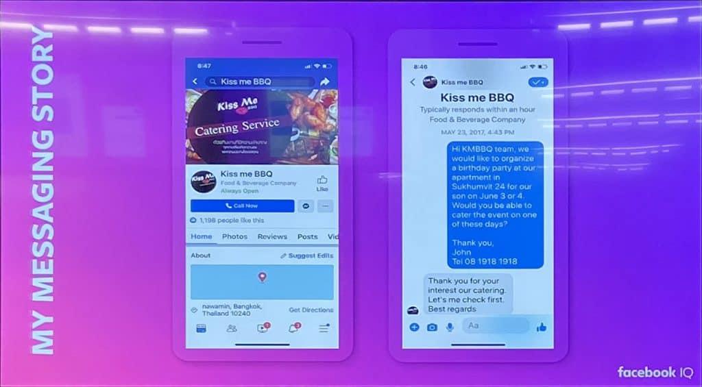 Conversation Commerce Chat before shop Facebook Messenger