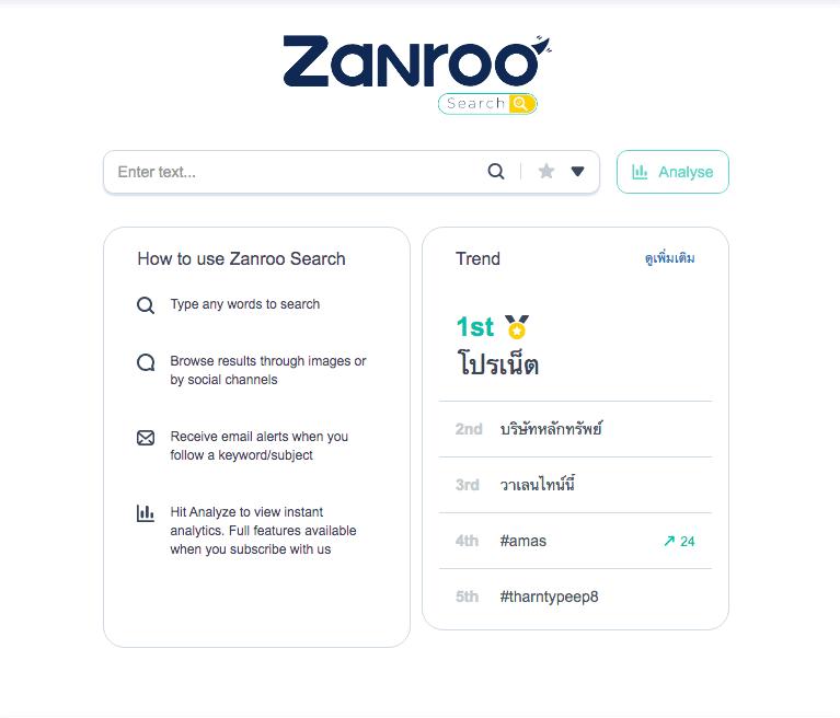 MK x Fire Tiger Social Listening Tools Zanroo Search