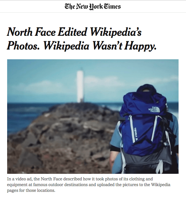North Face Wikipedia Fail Campaign Social Media Trend 2020 Think Forward 2020 We Are Social
