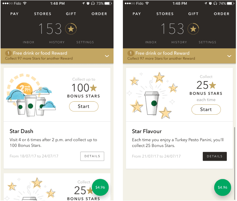 Case Study Hyper-Personalization Starbucks tailor made content in mobile app