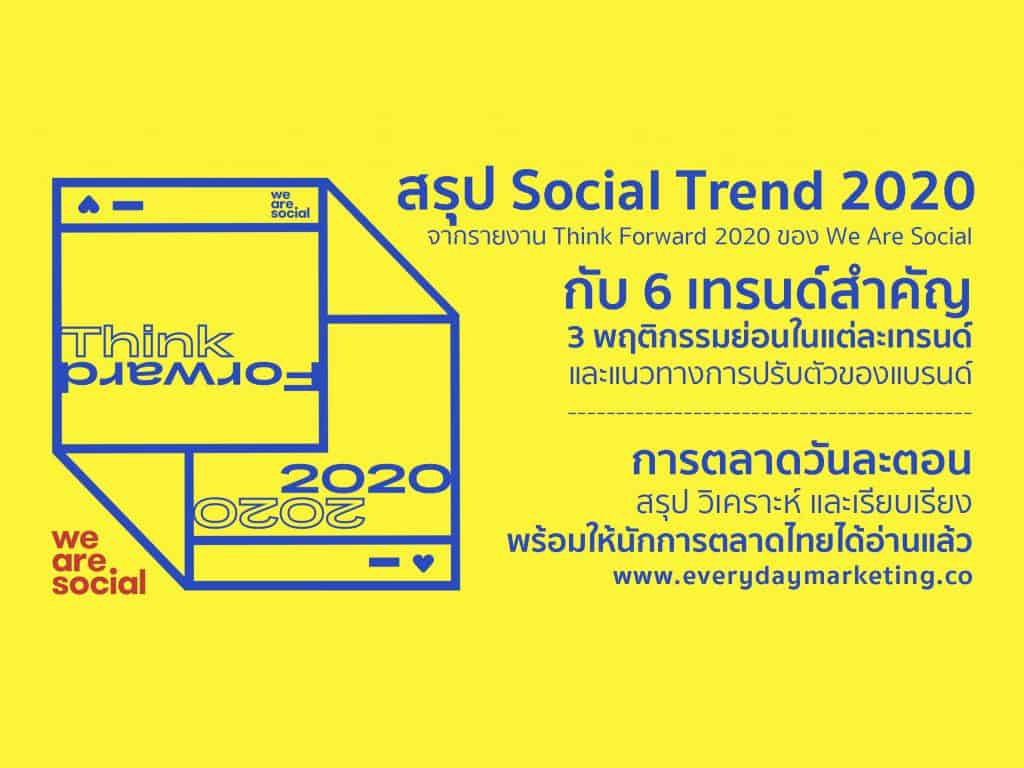 Digital Marketing Trend 2020 Social Trend 2020 Think Forward 2020