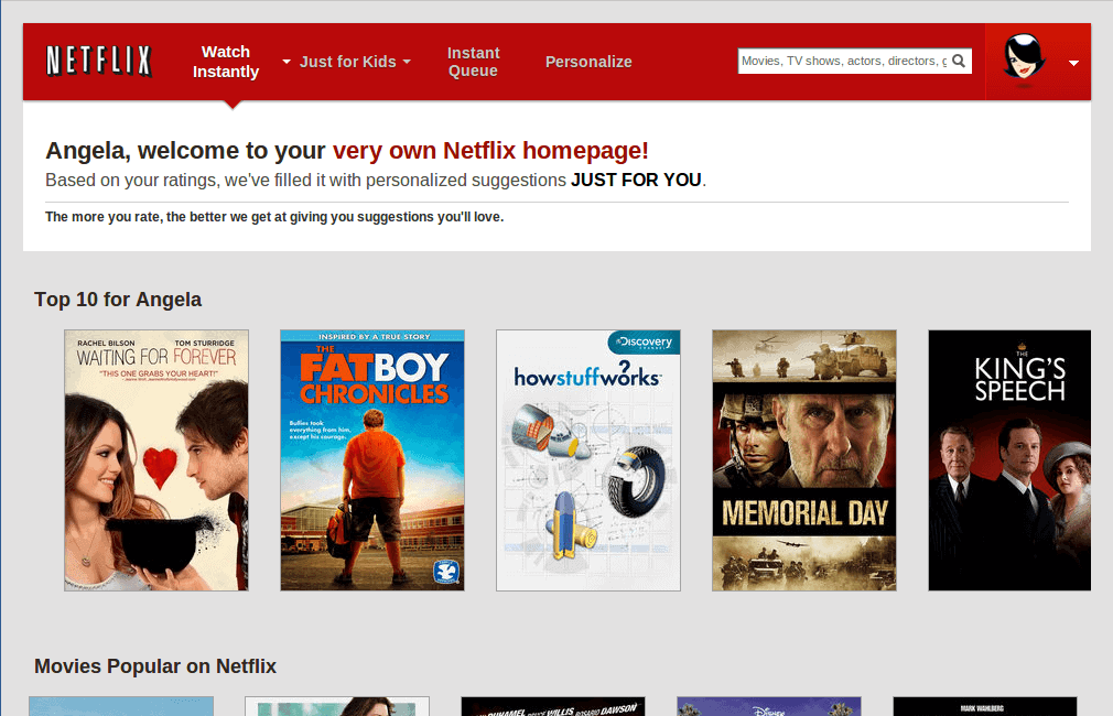 Case Study Hyper-Personalization Netflix Suggestion
