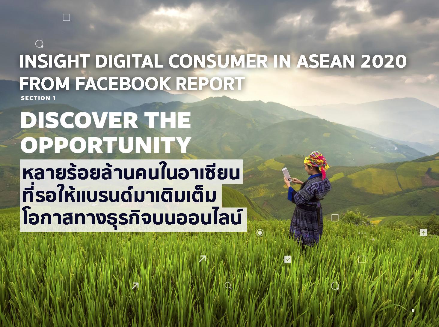 รายงาน Digital Consumer in ASEAN 2020 จาก Facebook เมื่อคนมาออนไลน์แต่ยังไม่มีใครมาเติมเต็ม
