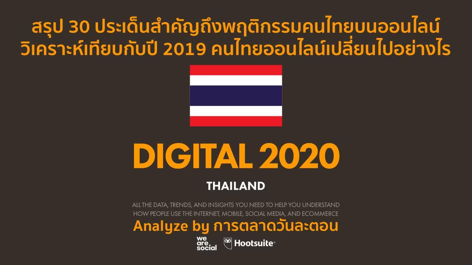 วิเคราะห์ Digital Thailand 2020  We Are Social เป็นอย่างไรเมื่อเทียบกับ 2019