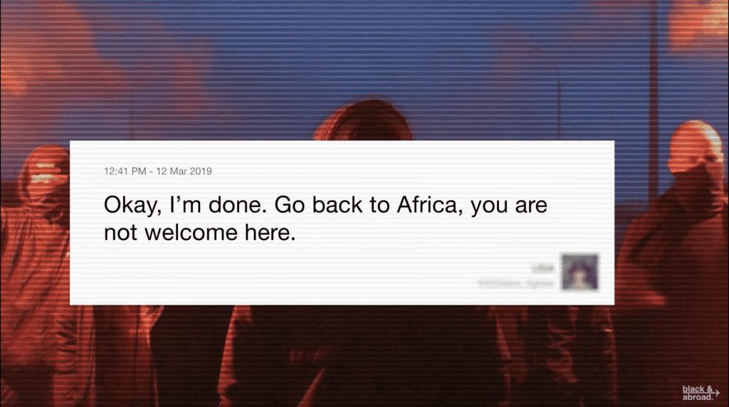 เมื่อคนผิวสีถูกด่าทอบน Twitter ให้ Go Back To Africa