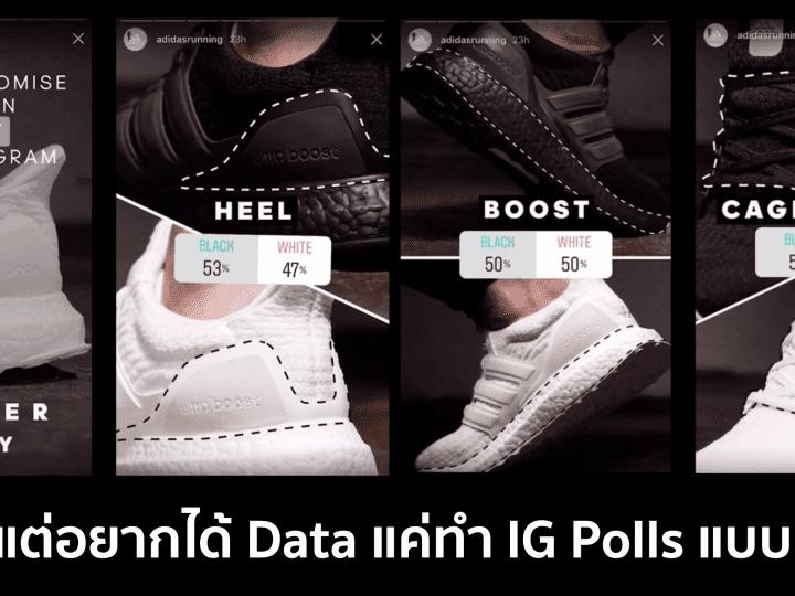 งบน้อยแต่อยากได้ Data แค่ทำ IG Polls แบบ Adidas