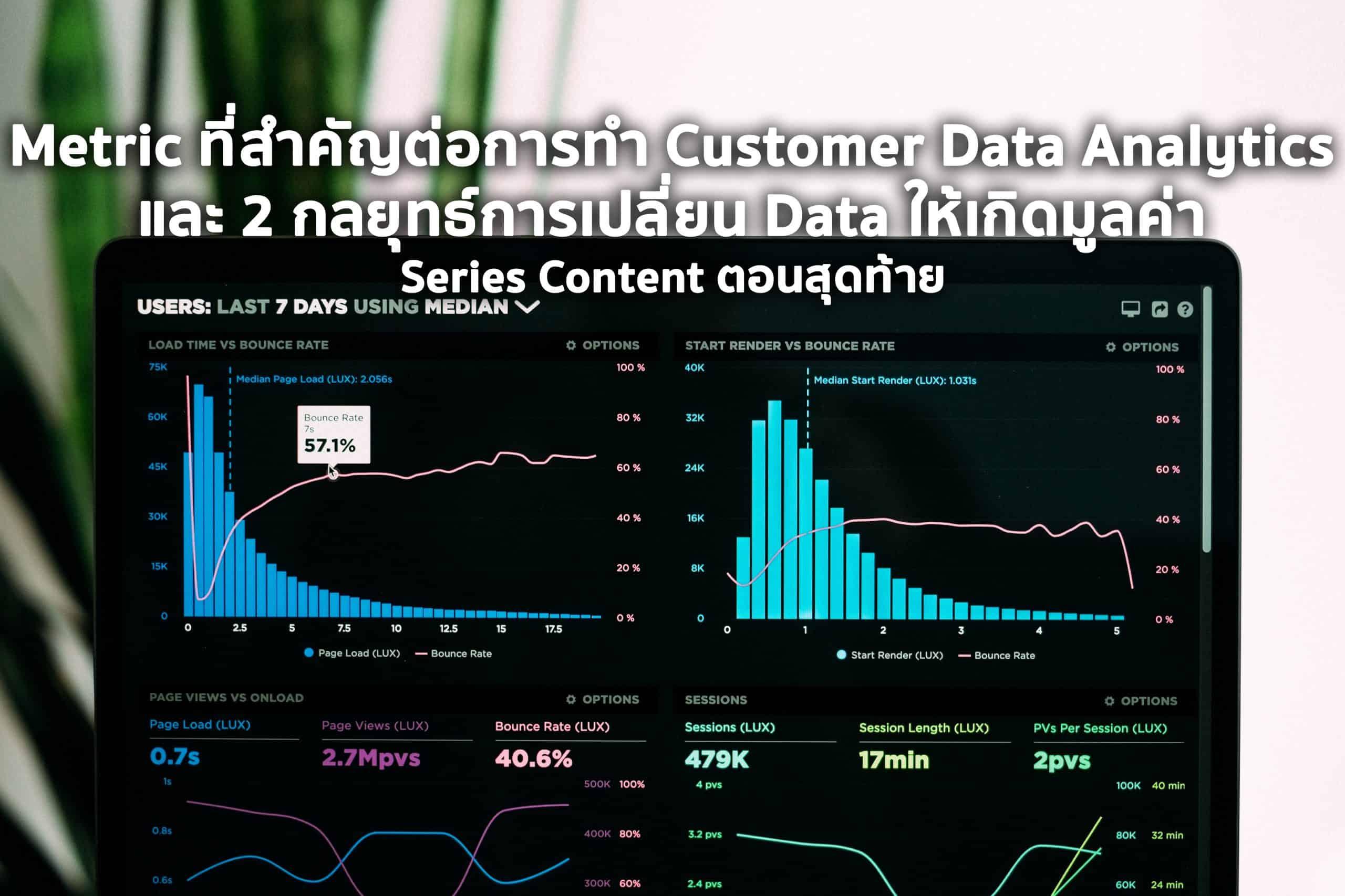 Metric ที่สำคัญต่อการทำ Customer Data Analytics และบทสรุปส่งท้าย