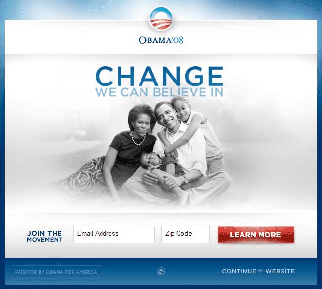 use case Data-Driven Donation ทีมงาน Obama เก็บ Data จากการทำ A/B testing ที่ช่วยเพิ่มเงินบริจาคได้กว่า 60 ล้านดอลลาร์สหรัฐ เมื่อปี 2008