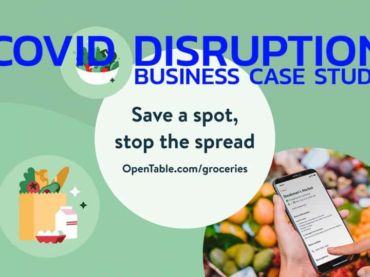 Covid disruption opentable grocery store reservation platform