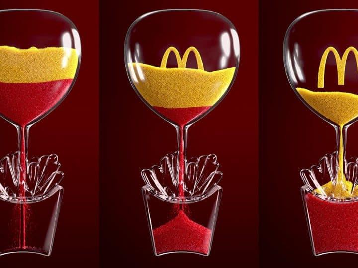 Iftar Sand Clock โฆษณาอาหารที่ไม่ต้องเห็นอาหารในช่วงรอมฎอน McDonald's
