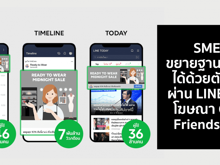 SMEs ขยายฐานลูกค้าได้ด้วยตัวเองผ่าน LINE ด้วยโฆษณา Gain Friends Ads
