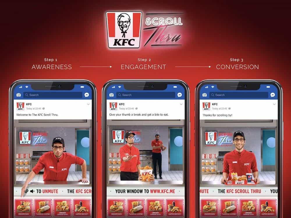 KFC Scroll-Thru Campaign
