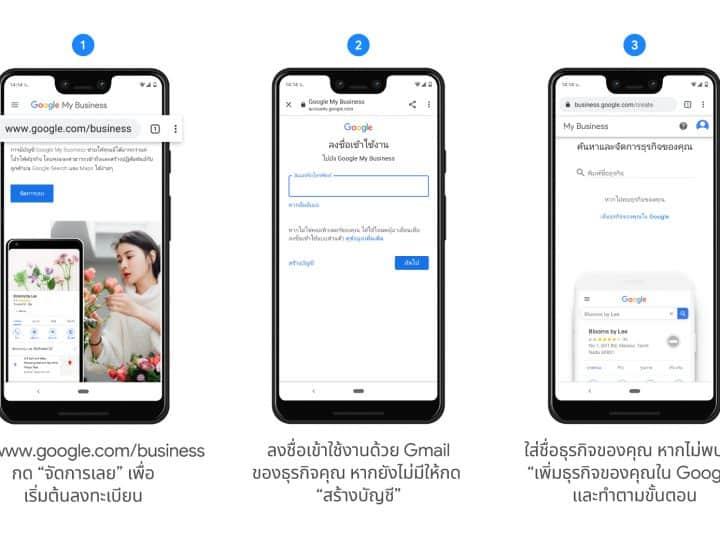 Google ปักหมุดฟรีให้ลูกค้าหาร้านคุณเจอบน Google Search และ Maps เมื่อลงทะเบียนใช้งาน Google My Business