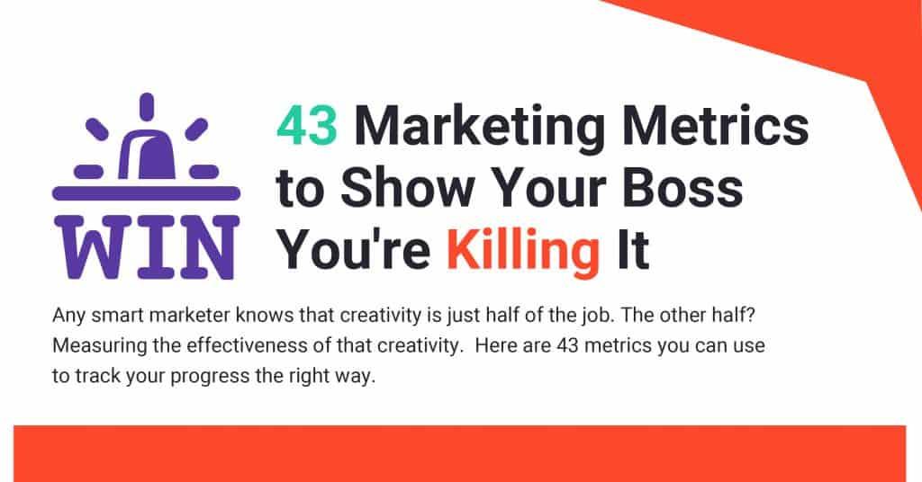 43 Marketing Metrics ตัวชี้วัดทางการตลาดสำคัญที่นักการตลาดต้องดู