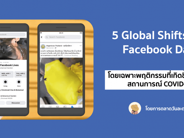 5 Global Shifts ที่ Facebook สังเกตเห็นได้จากแพลตฟอร์ม