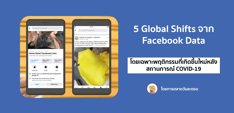 5 Global Shifts ที่ Facebook สังเกตเห็นได้จากแพลตฟอร์ม