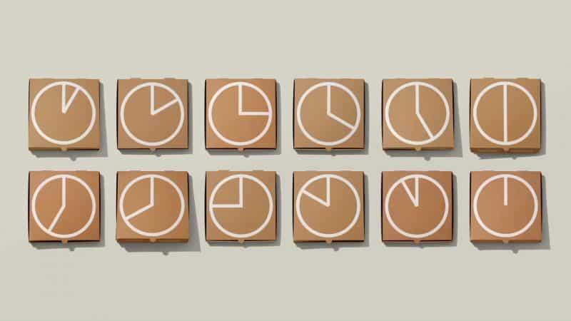 Packaging Design for Marketing กับ 7 West Round-the-Clock Pizza Box เพื่อบอกลูกค้าประจำว่าตอนนี้ทางร้านพร้อมส่ง Delivery 24/7 แล้ว