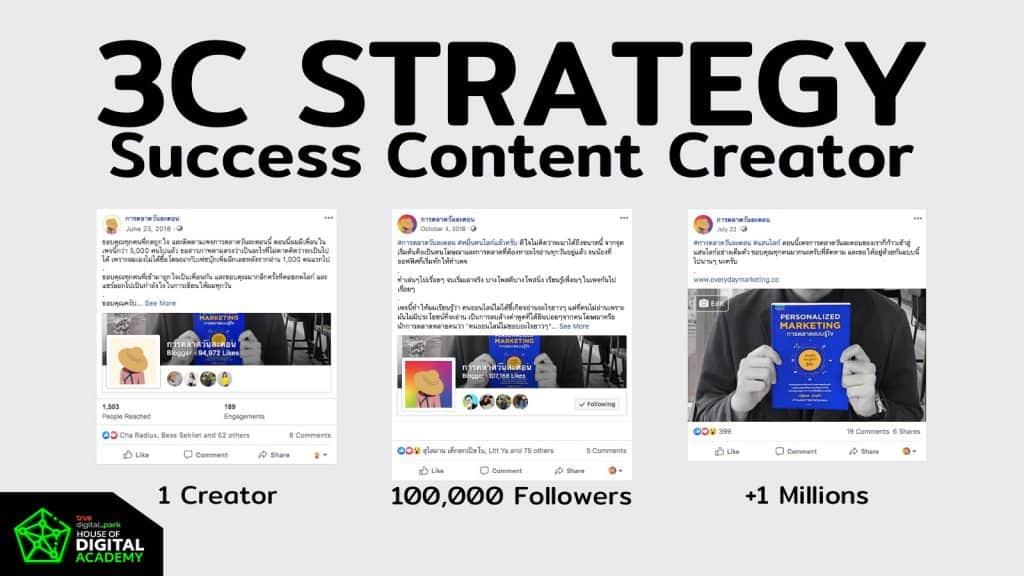 คอร์สเรียนกลยุทธ์ 3C - Character x Consistency x Community กับ How to will be Millionaire Content Creator จากประสบการณ์ตรงของการตลาดวันละตอน