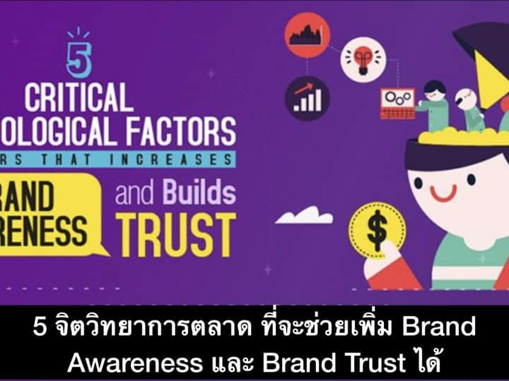 5 จิตวิทยาการตลาด ที่จะช่วยเพิ่ม Awareness และ Brand Trust