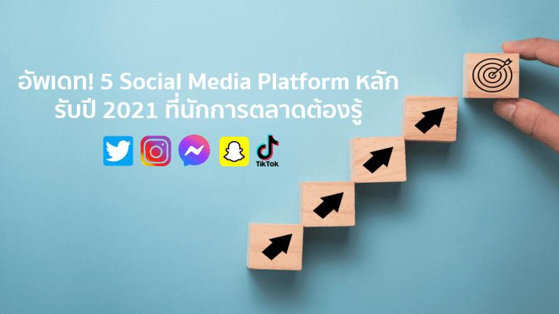 อัพเดท! 5 Social Media Platform หลักรับปี 2021 ที่นักการตลาดต้องรู้