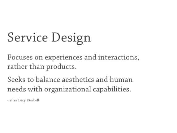 Service Design is