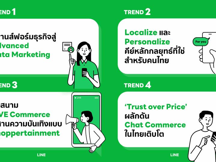 LINE เผย 4 เทรนด์หลักเดินหน้าธุรกิจไทยยุค Data-Driven Marketing การตลาดยุคใหม่ต้องฉลาดใช้ดาต้าและต้องเริ่มเดินหน้าทำ Persoanlization