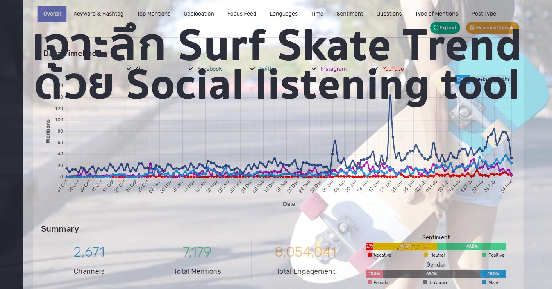 เจาะเทรนด์ Surf Skate Board ปังเพราะใครจาก Data ด้วย Social listening tool