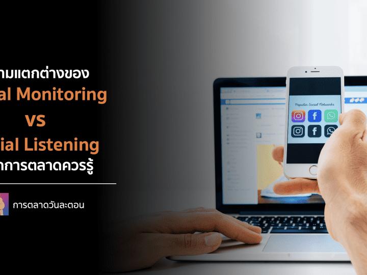ความแตกต่างของ Social Monitoring vs Social Listening ที่นักการตลาดควรรู้