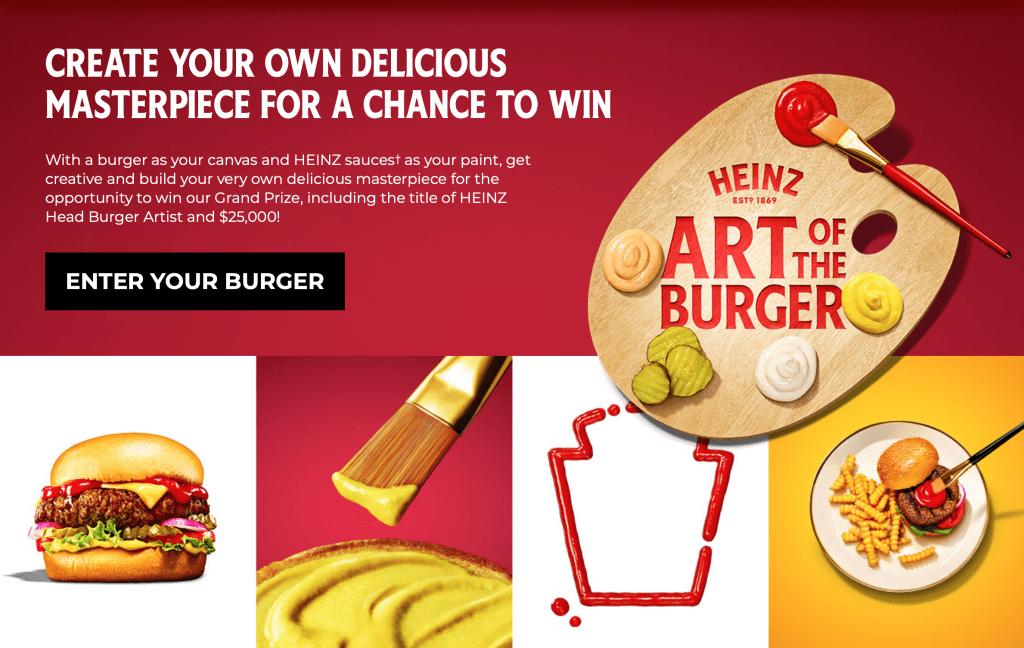 Heinz - Art of the Burger แคมเปญ Creative สร้าง Engagement จากไฮนซ์