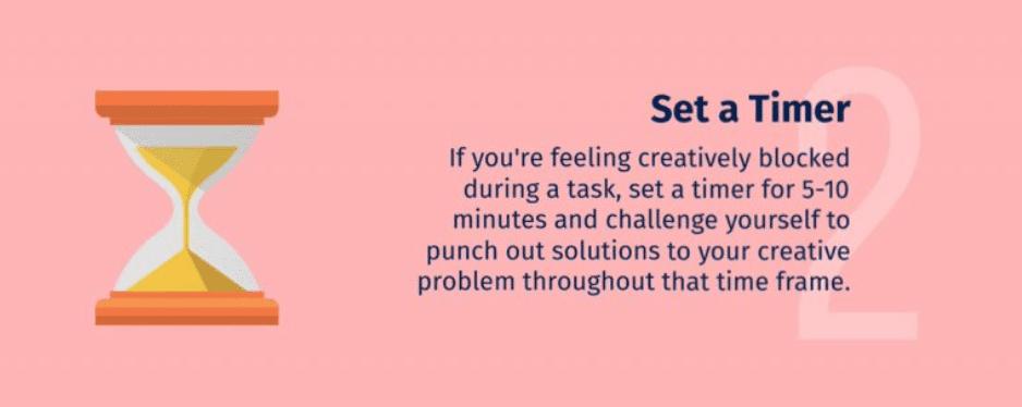 เวลา คิดไอเดียไม่ออก ให้ลองจับเวลากดดันตัวเอง
