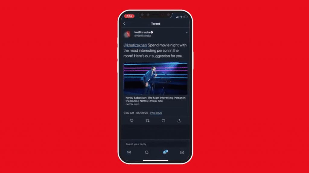 แนะนำหนังตาม Mood ของ Netflix กับ Twitter