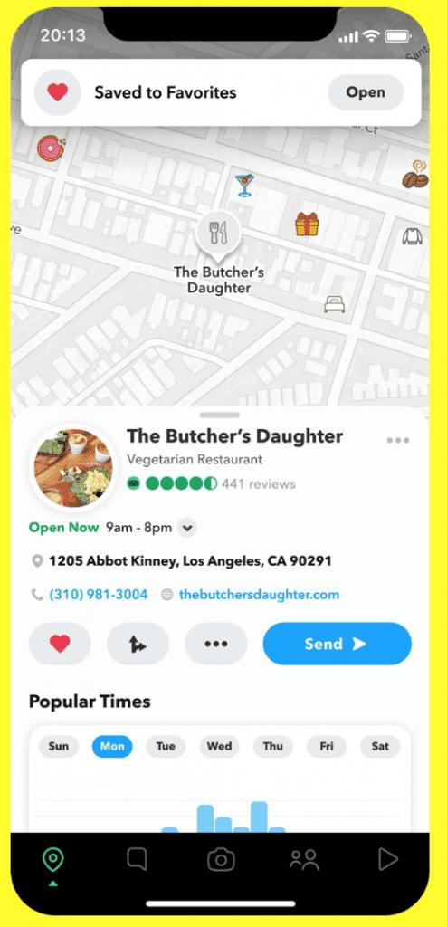 Snap Map เพิ่มแผนที่เชื่อมต่อผู้ใช้กับธุรกิจท่องเที่ยว บน Snapchat