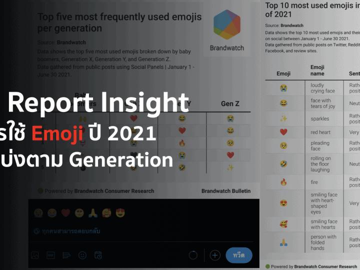 Data Report Insight การใช้ Emoji ปี 2021 โดยแบ่งตาม Generation