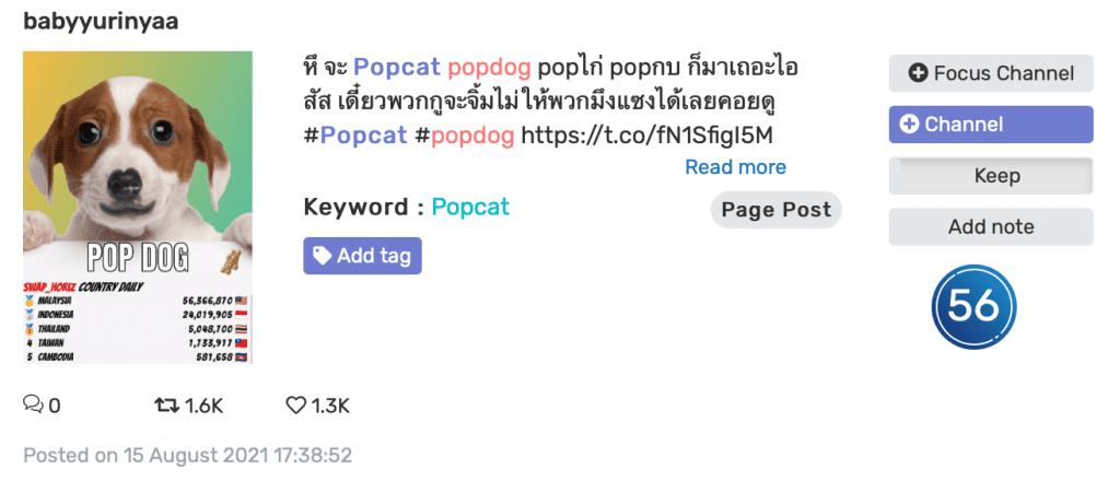 popcat หรือจะสู้ Popdog