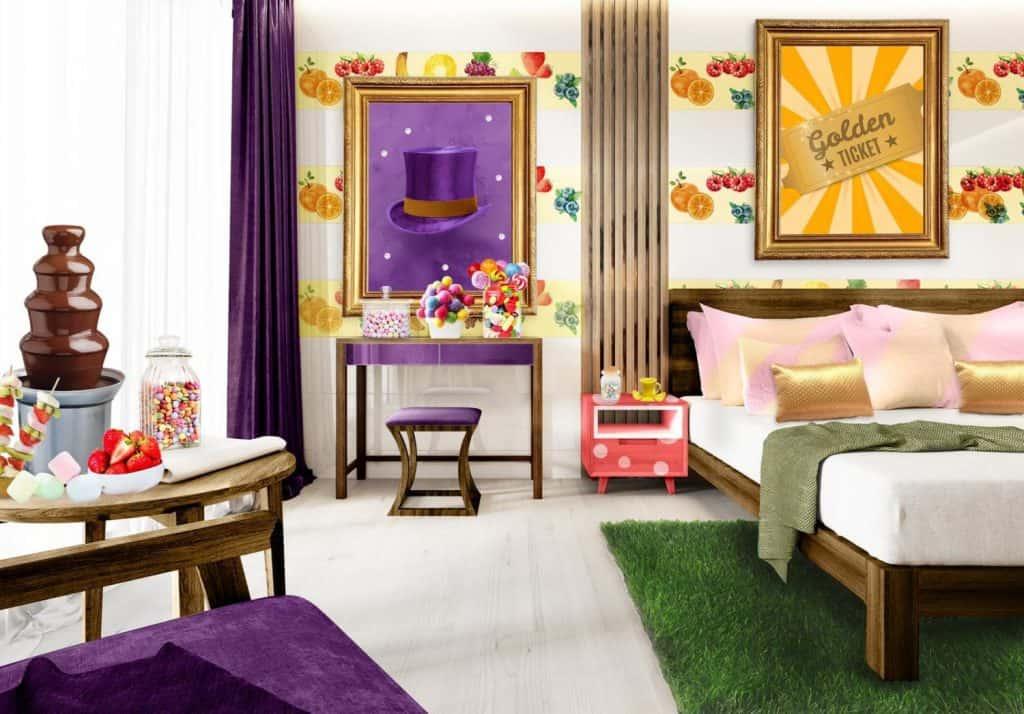 โรงแรมกินได้ ที่ได้แรงบันดาลใจจาก Willy Wonka ตอบโจทย์ฝันในวันเด็ก