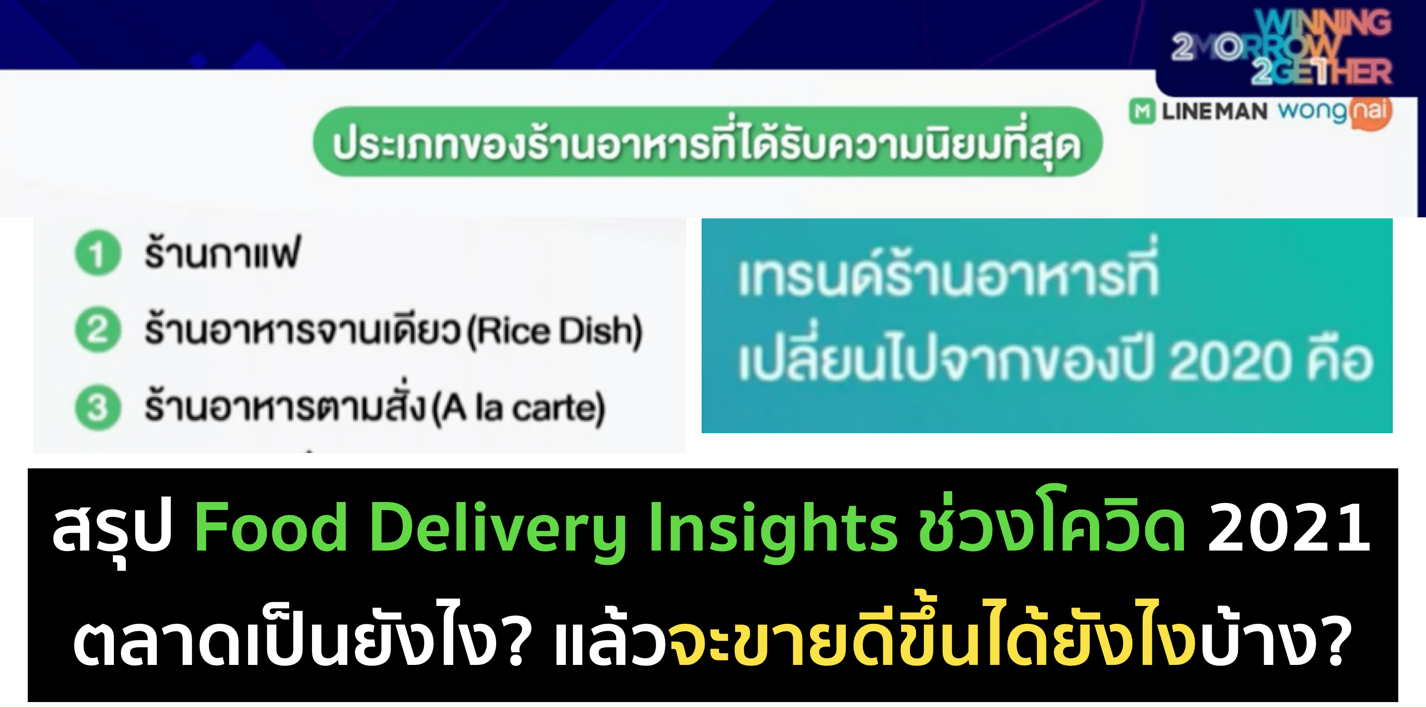 Food Delivery Insight ช่วงโควิด 2021 จาก DAAT Day